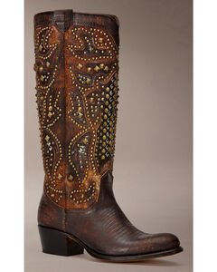 Frye Women's Deborah Deco Tall Cowgirl Boots - Round Toe, , hi-res