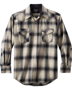 1897 Legends Plaid Flannel On Down Shirt For Men In Black And White Gl009