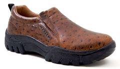 Roper Performance Ostrich Print Slip-On Shoes - Round Toe, , hi-res