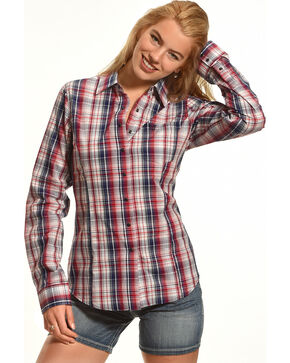 Shyanne Women's Long Sleeve Plaid Shirt, Multi, hi-res