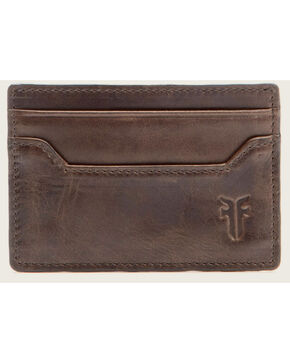 Frye Men's Logan Antique Pull-Up Card Holder , Slate, hi-res