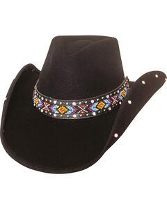 Bullhide Women's Bad Axe River Wool Hat , Black, hi-res