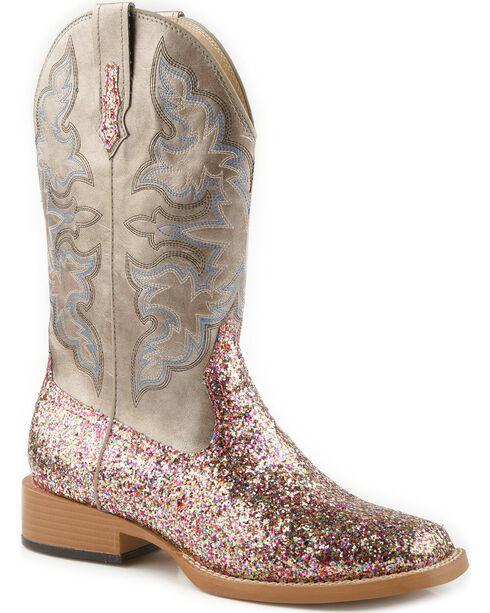 Roper Multi Glitter Cowgirl Boots - Square Toe, , hi-res