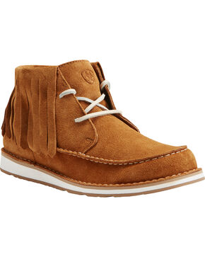 Ariat Women's Fringe Harvest Cruiser Chukkas - Moc Toe, Rust Copper, hi-res