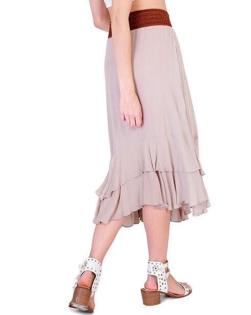 HYFVE Women's Tan Tie Front Midi Skirt, Tan, hi-res