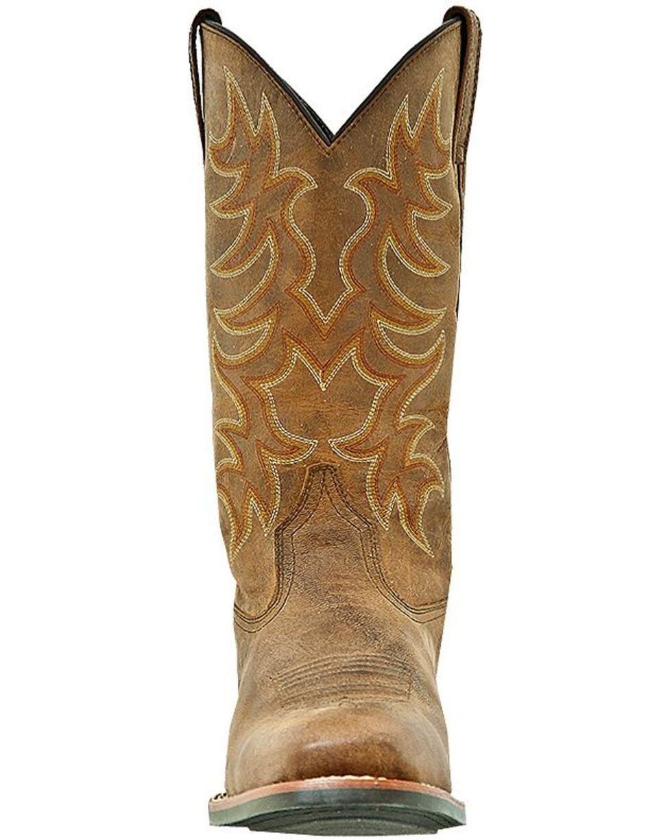 Laredo Goatskin Leather Cowboy Boots - Square Toe, Tan, hi-res