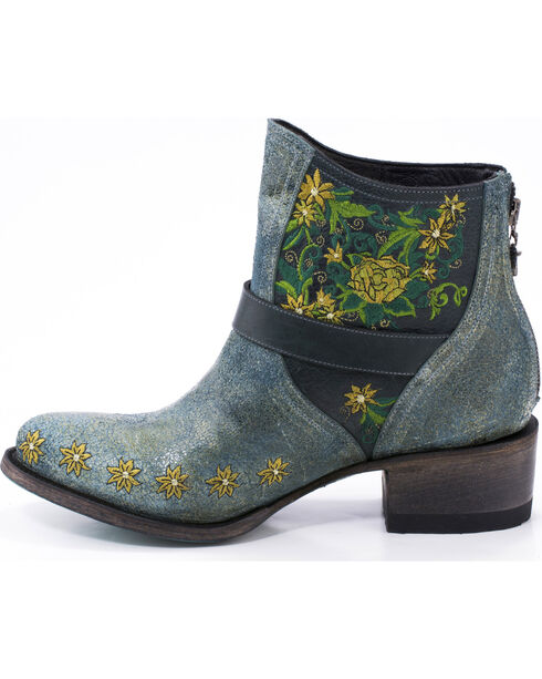 Lane Women's Boho Love Denim Boots - Round Toe , Turquoise, hi-res