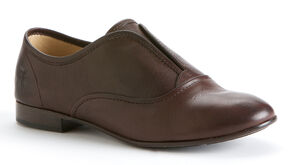 Frye Women's Jillian Slip On- Round Toe, Dark Brown, hi-res