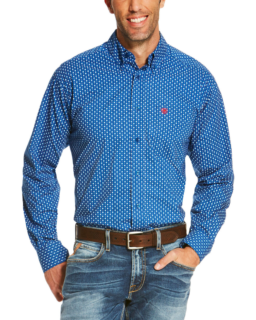 Ariat Men's Blue Rico Print Long Sleeve Western Shirt , Blue, hi-res