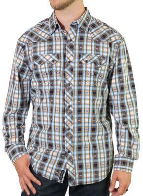 Moonshine Spirit Men's Bass Line Western Shirt, White, hi-res