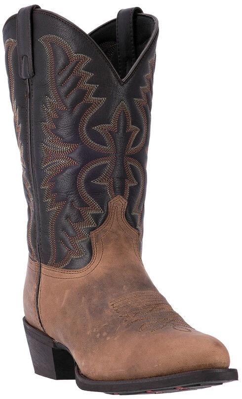 Laredo Birchwood Cowboy Boots - Round Toe , Distressed, hi-res