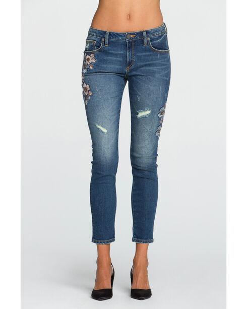 Miss Me Women's Indigo Botanical Babe Ankle Jeans - Skinny , Indigo, hi-res