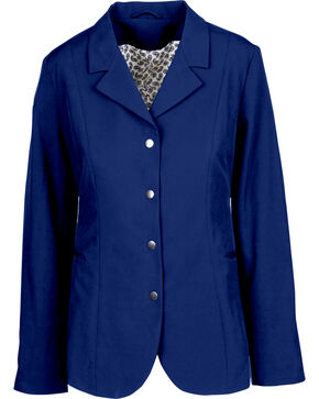 Dublin Derby Soft Shell Equestrian Show Coat, Navy, hi-res