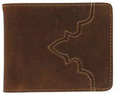 Cody James Men's Bi-Fold Pass Case Wallet, Brown, hi-res