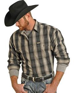 Panhandle Slim Men's Bandera Brushed Long Sleeve Shirt , Black, hi-res