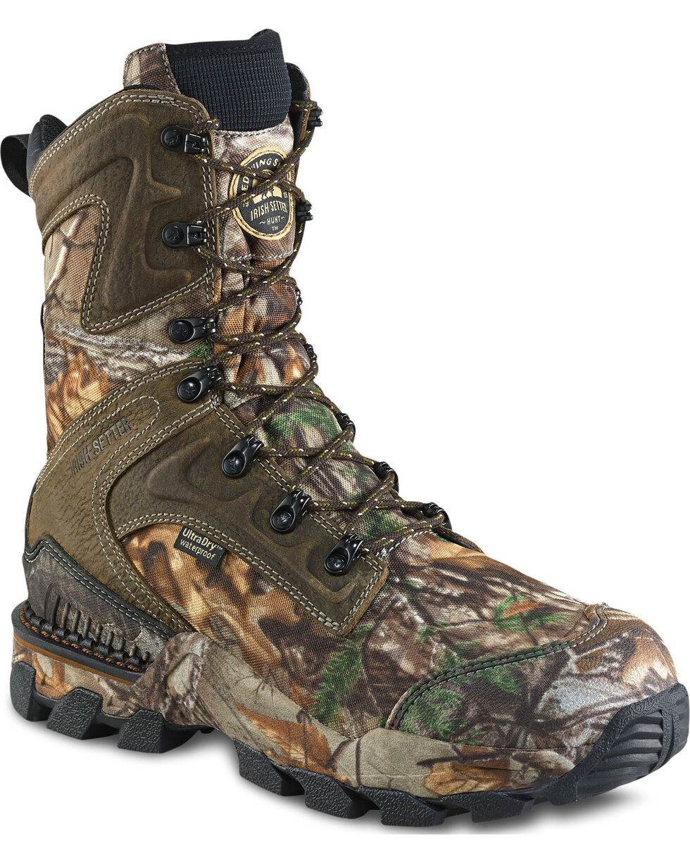 """Irish Setter by Red Wing Shoes Men's Realtree Xtra Insulated 10"""" Hunting Boots - Round Toe, Camouflage, hi-res"""