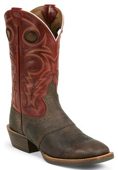 Justin Silver Saddle Vamp Cowboy Boots - Square Toe, , hi-res