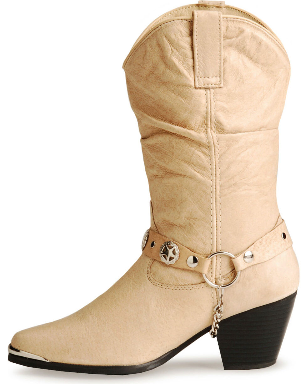 Dingo Supple Pigskin Cowgirl Boots, Tan, hi-res