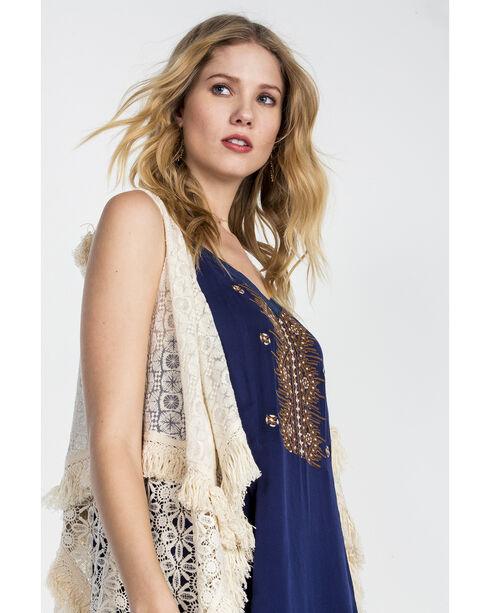 Miss Me Women's Natural Sweet Sahara Vest , Natural, hi-res