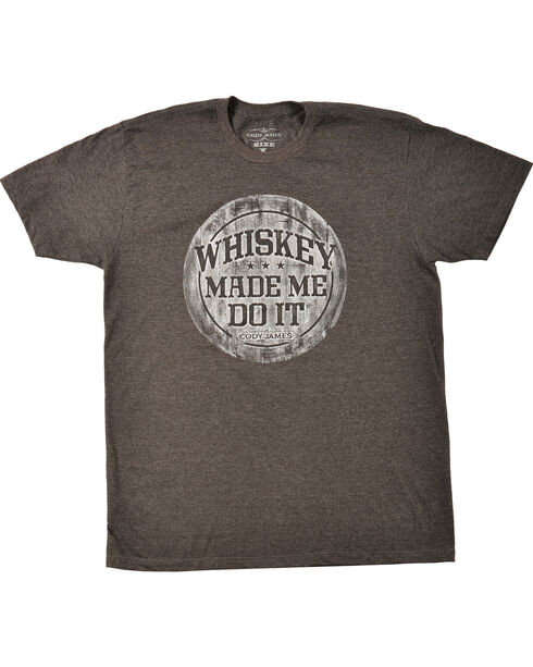 Cody James Men's Whiskey Made Me Do It T-Shirt, Heather Grey, hi-res