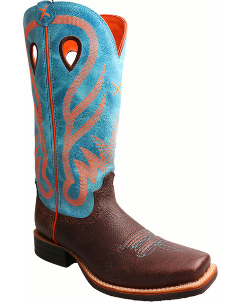 Twisted X Women's Blue Ruff Stock Cowgirl Boots - Square Toe, , hi-res