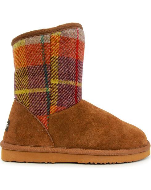 Lamo Footwear Women's Wembley Tweed Boots , Chestnut, hi-res