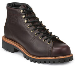 Chippewa Men's Cognac Lace-to-Toe Field Boots - Round Toe, , hi-res