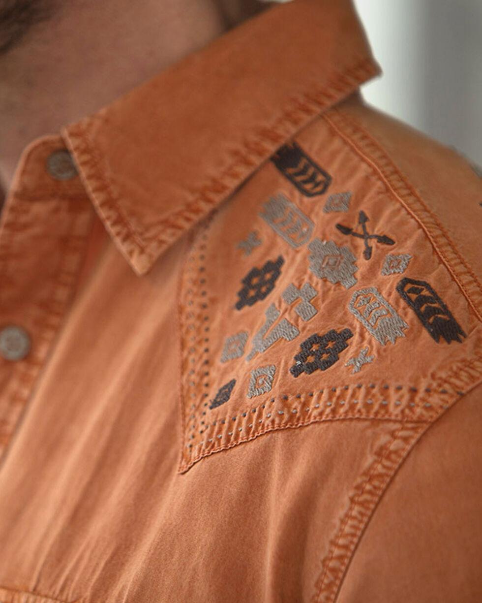 Ryan Michael Men's Silk Gabardine Shirt, Orange, hi-res