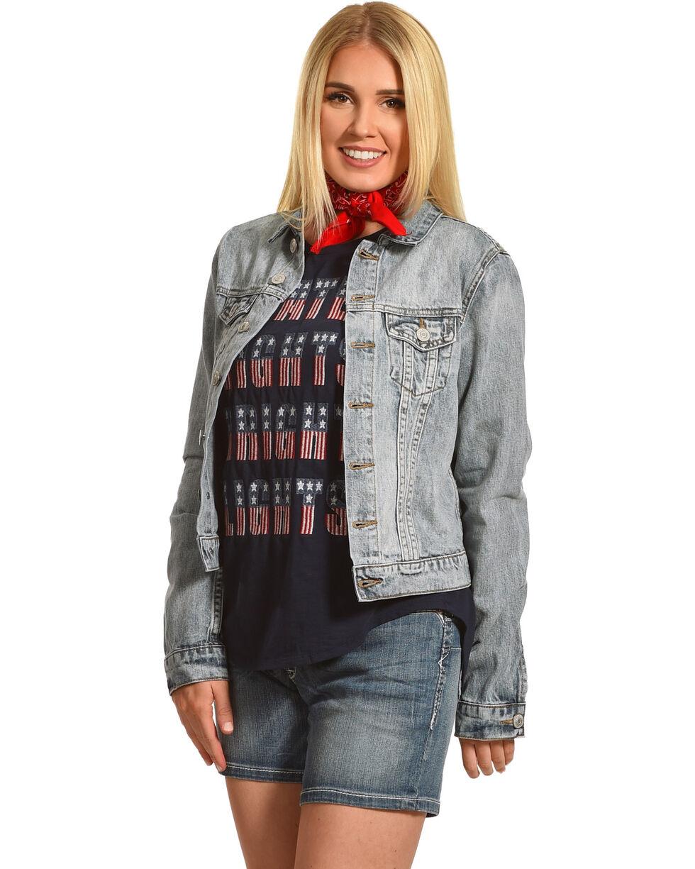 Shyanne Women's Denim Jacket, Blue, hi-res