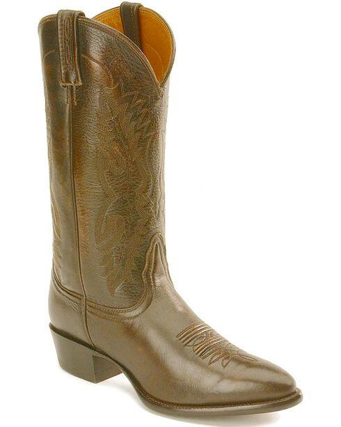 Nocona Imperial Calfskin Cowboy Boots, Walnut, hi-res