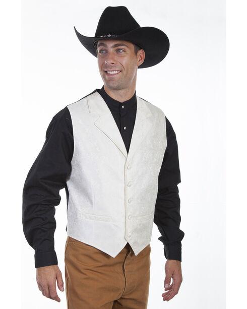 Scully Men's Cream Paisley Vest , Cream, hi-res