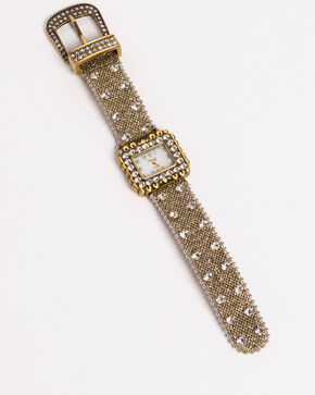 Shyanne Women's Mesh Strap Rhinestone Watch, Multi, hi-res