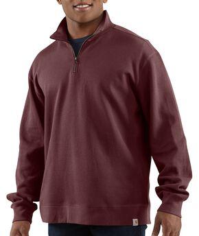 Carhartt Sweater Knit Quarter Zip Sweatshirt, Port, hi-res