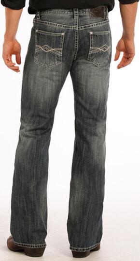 Rock and Roll Cowboy Pistol Flat Seam Detail Jeans - Boot Cut, Indigo, hi-res