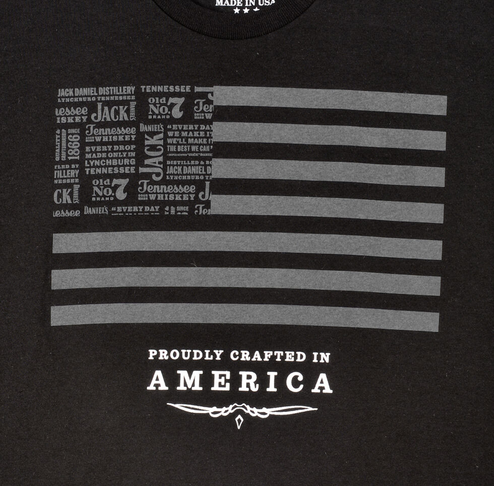 Jack Daniel's Men's Jack and Stripes Black T-Shirt, Black, hi-res