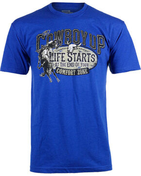 Cowboy Up Men's Comfort Zone T-Shirt, Blue, hi-res