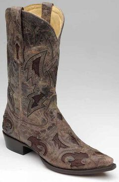 Corral Full Quill Ostrich Inlay Cowboy Boots - Snip Toe, , hi-res