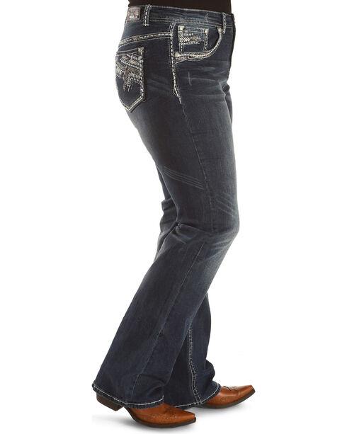Grace in LA Women's Embellished Pocket Straight Leg Jeans - Plus, Indigo, hi-res