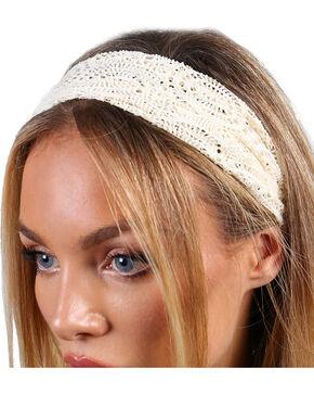 Shyanne® Women's Crochet Headband, Cream, hi-res