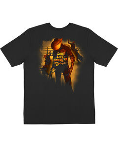 Wrangler Men's Black Long Live Cowboys T-Shirt , Black, hi-res