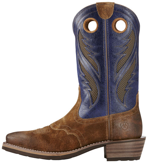 Ariat Mocha Men's Venttek Heritage Roughstock Boots - Square Toe, Copper, hi-res