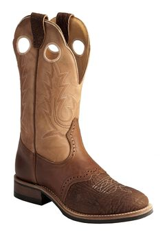 Boulet Apache Whaler Buckskin Cowgirl Boots - Round Toe, , hi-res