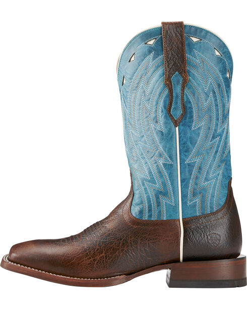Ariat Men's Chocolate Cowtown Bullfrog Print Boots - Square Toe , Chocolate, hi-res