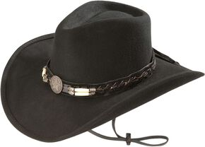 Bullhide Skynard Wool Felt Cowboy Hat, Black, hi-res