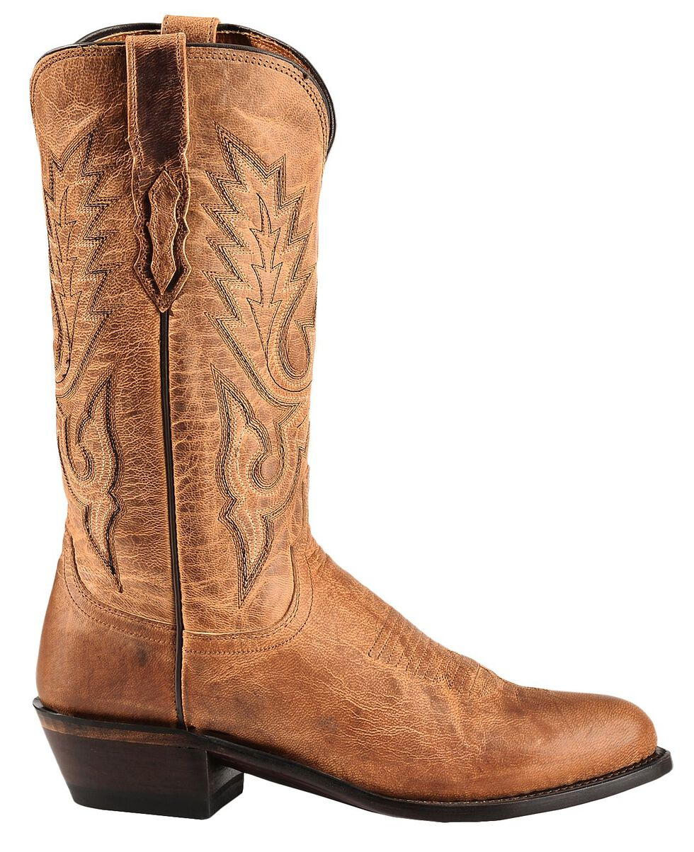 Lucchese Handmade 1883 Tan Mad Dog Goatskin Cowboy Boots - Medium Toe, Tan, hi-res