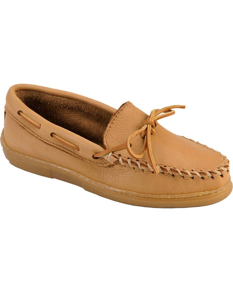 Women's Minnetonka Moosehide Classic Moccasins, Natural, hi-res