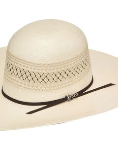 Twister 10X Shantung Open Crown Straw Cowboy Hat, Natural, hi-res