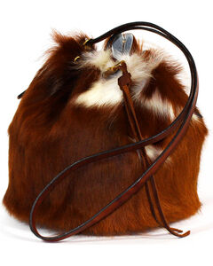 SouthLife Supply Women's Cowhide Drawstring Bucket Bag, Multi, hi-res