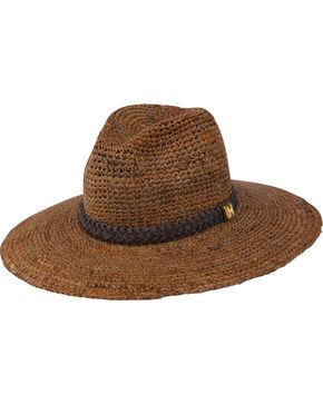 Peter Grimm Women's Brown Serge Straw Hat , Brown, hi-res