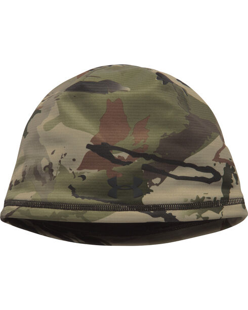 Under Armour Men's Scent Control Storm Fleece Camo Beanie, Camouflage, hi-res